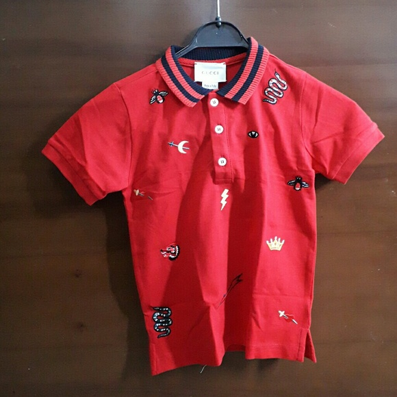 04486bf59cb Gucci Other - Gucci boys polo t shirt with symbols